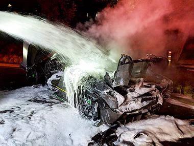 マクラーレン・セナ 炎上 廃車 スーパーカー