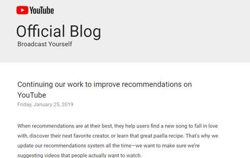 YouTube おすすめ 改善 レコメンド 動画 ガイドライン