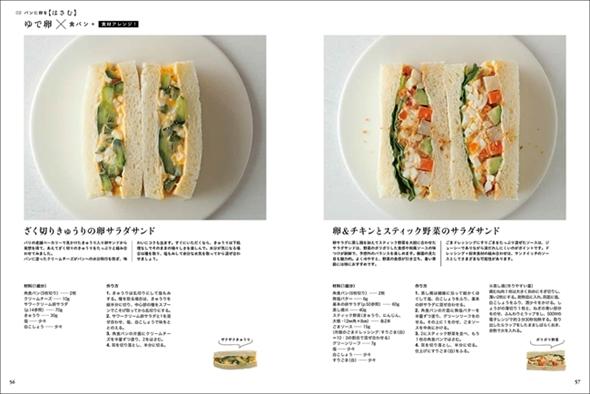 卵とパンの組み合わせ方