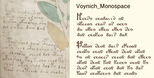 ヴォイニッチ手稿を再現した画像
