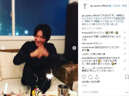 綾野剛 37歳年齢 誕生日 閉鎖病棟 笑福亭鶴瓶 サプライズ Instagram インスタ プライベート