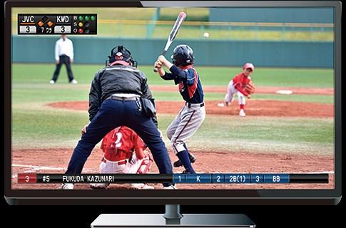 テレビのスポーツ中継のようにスコア付きで撮影できるビデオカメラが発売。選手情報なども表示可能で完全にテレビ中継を再現可能  [208924962]YouTube動画>1本 ->画像>12枚