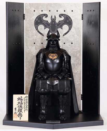 バットマン モチーフ 甲冑 蝙蝠侠 鎧飾り 武者人形