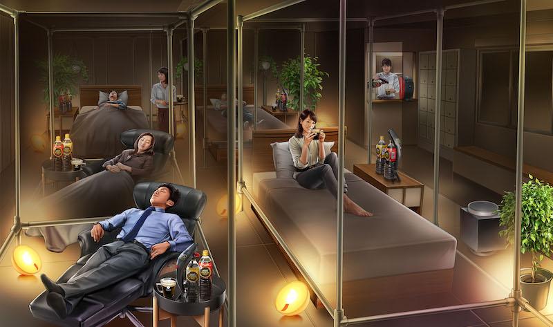 社会問題になっている日本人の睡眠不足や睡眠負債(関連記事)に着目した「睡眠カフェ」の旗艦店がオープン