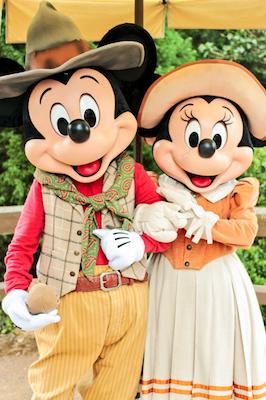 香港ディズニーランドのミッキーとミニー