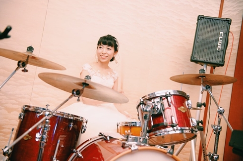 ドラム 結婚式 ドラマー