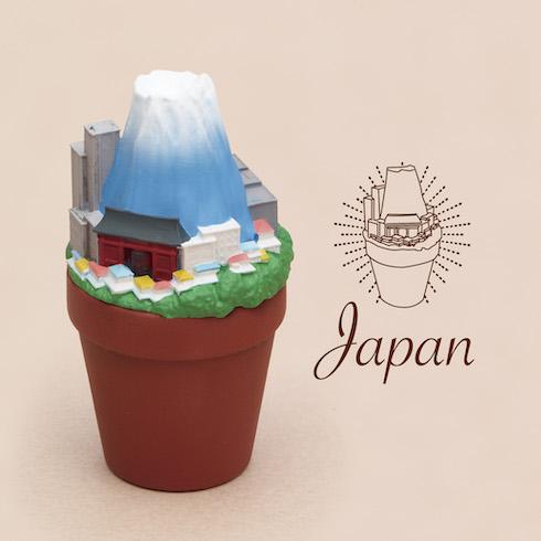 パンダの穴 旅行 植木鉢
