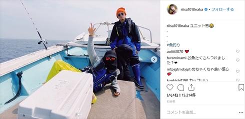仲里依紗 中尾明慶 プライベート 釣り Instagram 夫婦