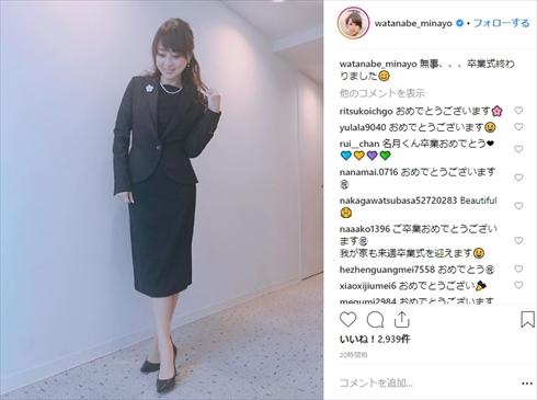 渡辺美奈代 名月 卒業式 コーデ 美人ママ 卒園式 息子 コーディネート