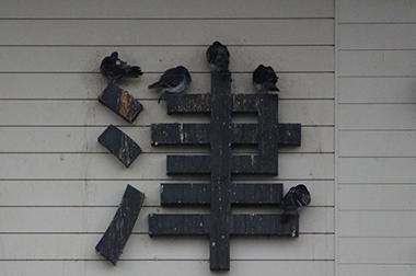 大津京駅 ハト フォント JR西日本