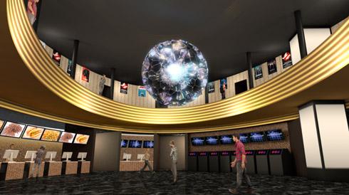 4階アートのイメージ画像 中央に大きな球体