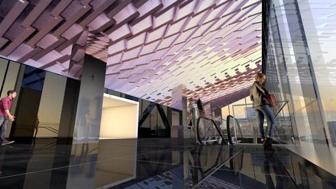 12階アートのイメージ画像 天井が輝いている