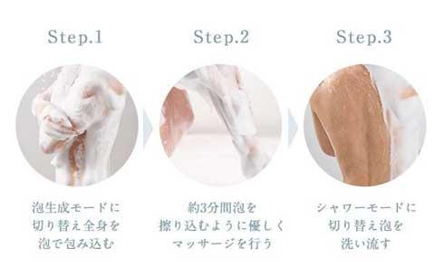 泡 シャワー 天然シルク KINUAMI 絹浴み クラウドファンディング Makuake