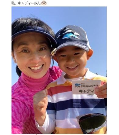 東尾理子 理汰郎 ゴルフ キャディー 世界ジュニアゴルフ選手権