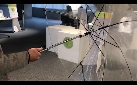 ダイヤル錠付き傘