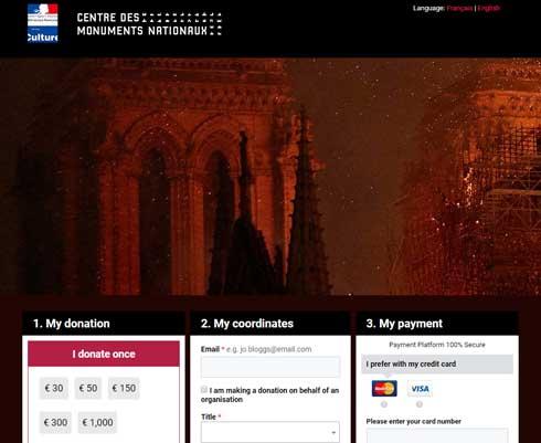 フランス大使館 パリ ノートルダム大聖堂 再建 寄付