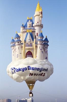 シンデレラ城気球