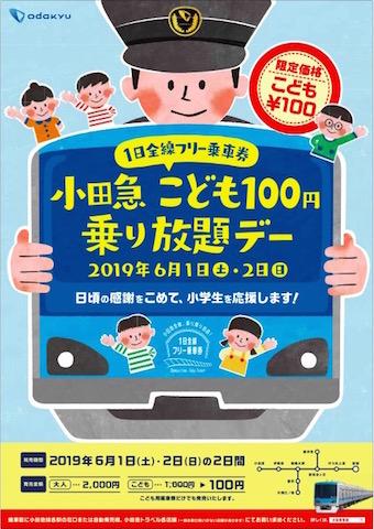 小田急 1日乗車券 フリーパス 子ども 100円