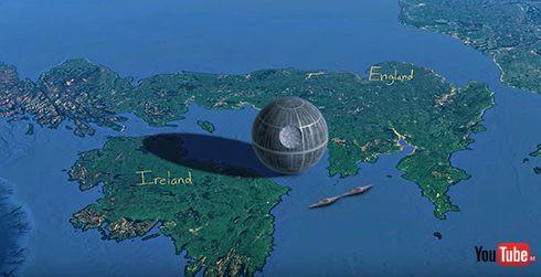 「ミレニアムファルコンは高速道路7車線」 スターウォーズの地球サイズ映像に感動