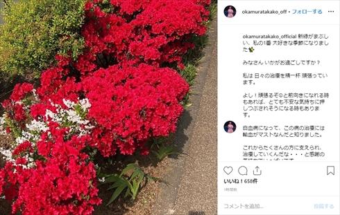 岡村孝子 急性白血病 白血病 現在 入院 Instagram あみん