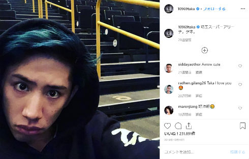 ONE OK ROCK ワンオク Taka アプリ 女装 Instagram