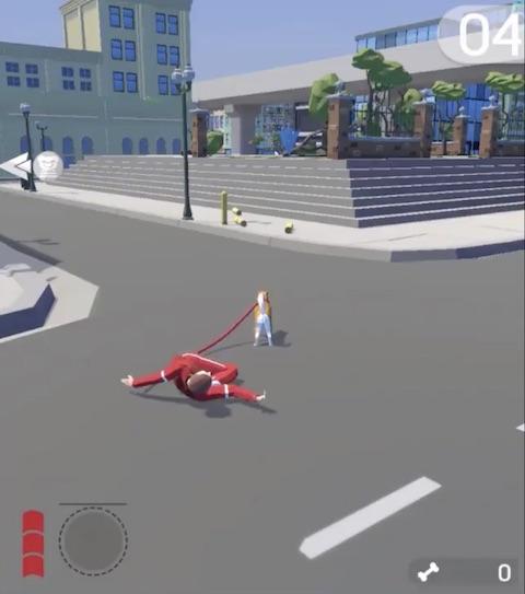 カワイイ犬と街中を駆け回るゲーム
