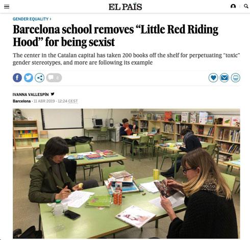 「性差別の偏見を含む」バルセロナの児童図書館が約200冊の排除を決定
