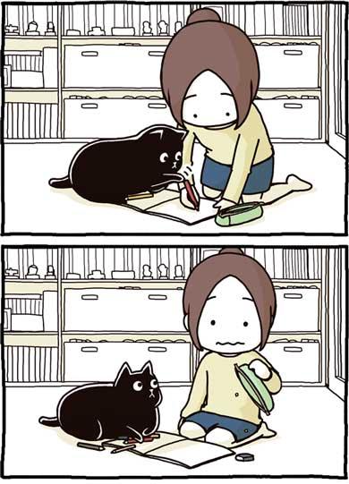 猫 漫画 仲裁 あるある ペン ノート 寝る 爪 たき りょうこ