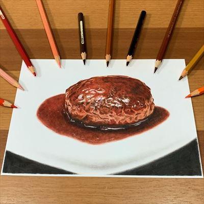 色鉛筆で描いたカブトムシ
