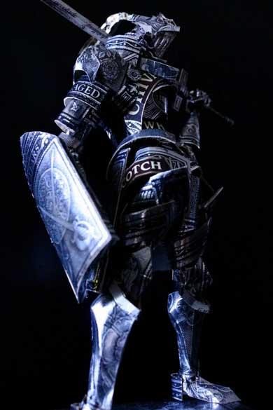 シーバスリーガル Chivas Regal ウイスキー 空箱 工作 騎士 ダークソウル