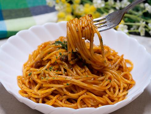 完成したスパゲティの写真