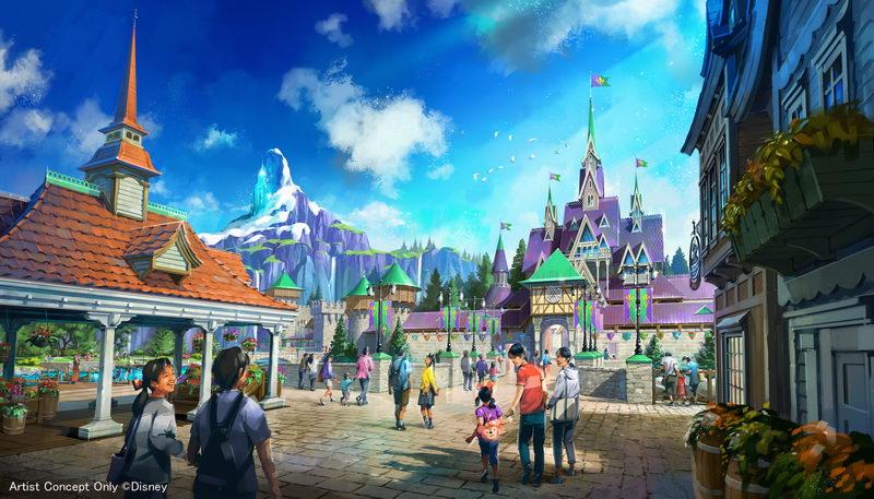 「アナと雪の女王」をテーマとしたエリア(イメージ)