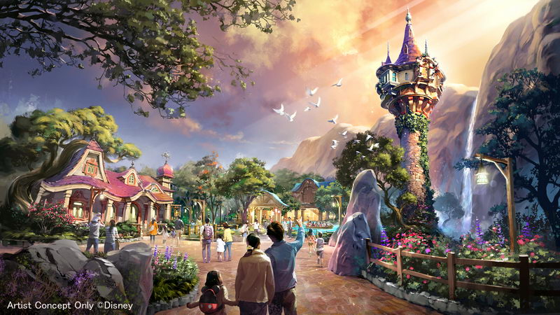 「塔の上のラプンツェル」をテーマとしたエリア(イメージ)