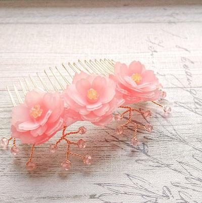 八重桜のヘアーコーム