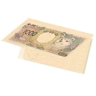 柴犬紙幣クリアチケットホルダー