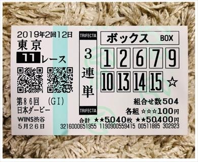 JOY 日本ダービー 競馬 結婚 ロジャーバローズ オッズ 3連単 馬券