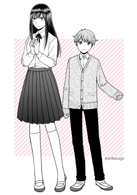 高身長女子と子犬系男子