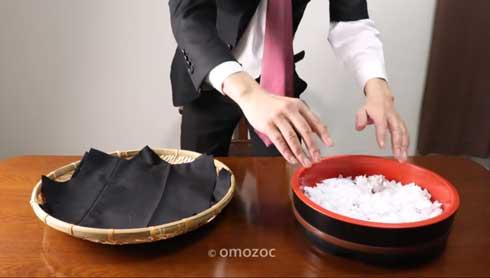 YouTube 発狂 サラリーマン スーツ 寿司 握る ストップモーションクッキング 動画 omozoc