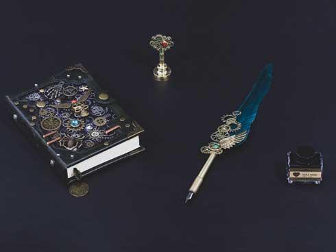 ドスパラ 上海問屋 僕の黒歴史ノートセット 黒歴史 魔術書 ペン 歯車