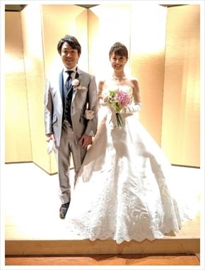 小林麻耶 國光吟 ななにー 結婚式 abemaTV 挙式 ウエディングドレス
