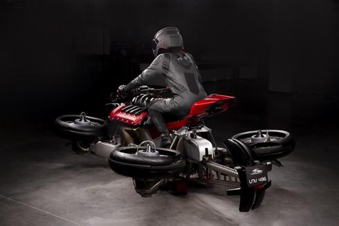 空飛ぶ四輪バイク ジェットエンジン LMV496 変形