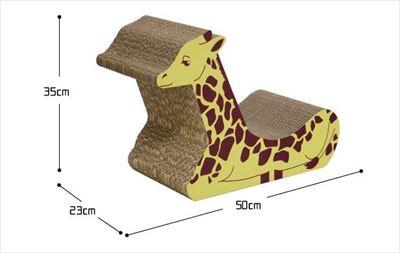 キリンの爪とぎベッド