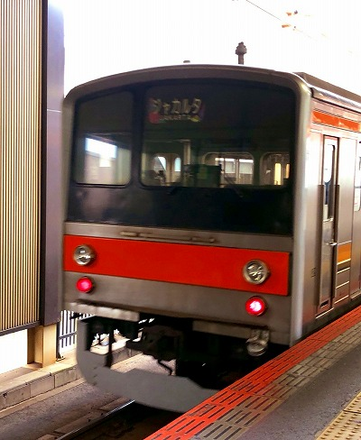 ジャカルタへ譲渡の電車