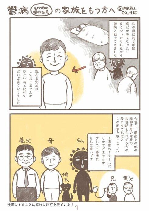 鬱病(その他の精神疾患)の家族をもつ方へ01