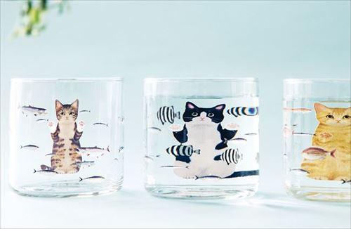 猫さん夢の水族館グラス
