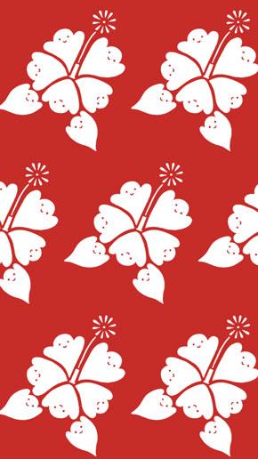 唐辛子 みせかけて ハブ対マングース 柄 壁紙 イラスト shimizu だまし絵 デザイン