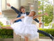 """12年も変わらずラブラブなんてハッピーやん! 辻希美、杉浦太陽と""""夫婦で踊ってみた""""動画でウエディングドレス&キス披露"""