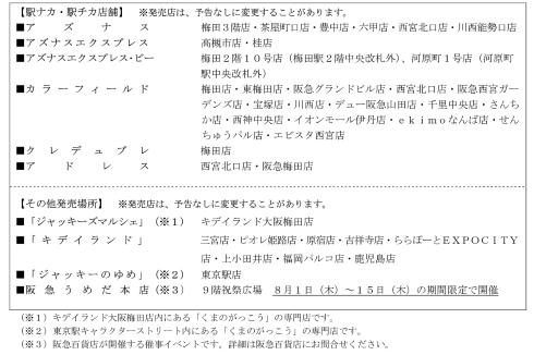 くまのがっこう×阪急電鉄コラボレーショングッズ販売店