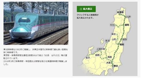 東北新幹線に使用されるE5系電車