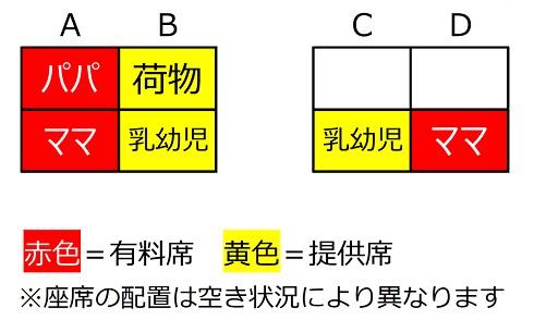座席のイメージ